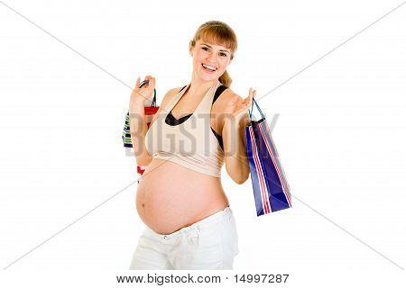 Schöne schwangere Frau