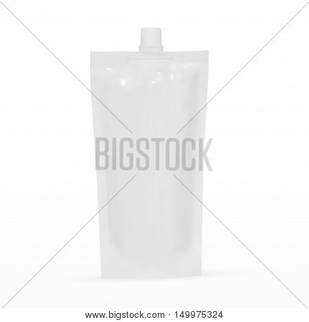 Big Blank Plastic Spouted Pouch For Sauce Mayonnaise Or Ketchup. EPS10 Vector
