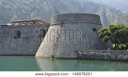 Kampana Tower part of Kotor's defensive city walls.