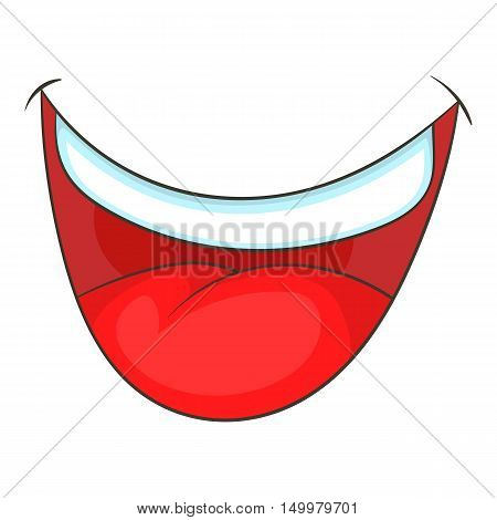 Mouth clown icon in cartoon style isolated on white background vector illustration