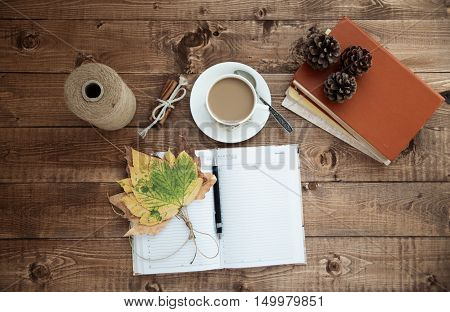 Note-book And Coffee