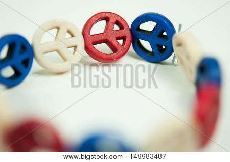 peace symbol, color of american flag, god bless you, freedom