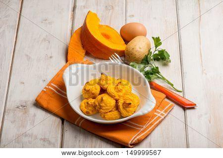 duchesse pumpkin and potatoes