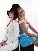 stock photo of mad hatter  - Alice in Wonderland and the Mad Hatter - JPG