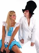 pic of mad hatter  - Alice and the Mad Hatter having a good time - JPG
