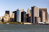 stock photo of woodstock  - Manhattan Island taken from the river in 1993 - JPG