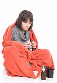 pic of barfi  - young adult sick woman - JPG