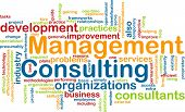 stock photo of change management  - Word cloud concept illustration of management consulting - JPG