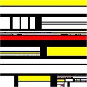 Mondrian abstract modern art design pattern background illustration poster
