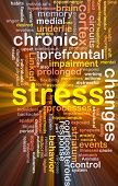foto of hypertrophy  - Background concept wordcloud illustration of chronic mental stress glowing light - JPG