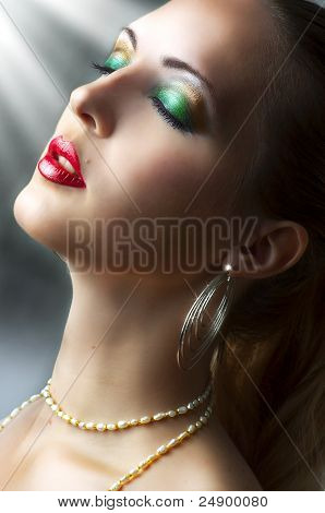 Beauty Portrait Of Young Sexy Female Model