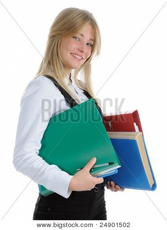 The Girl Carrying Folder