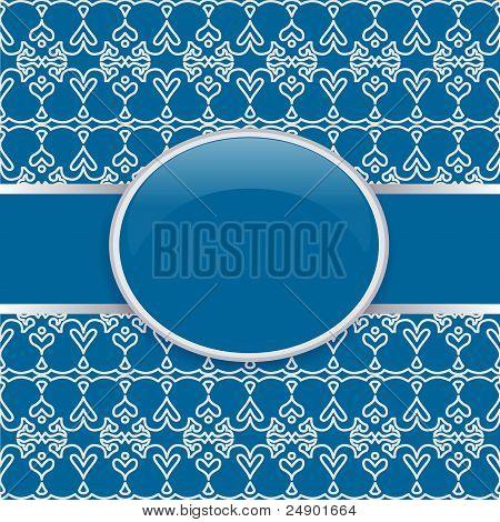Art vector retro blue ornate cover
