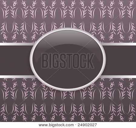 Invitation vector pink card