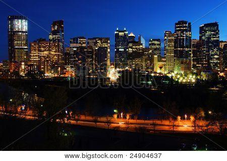 Night View of Calgary
