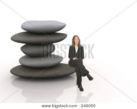 Geschäftsfrau - Wachstum-Gedanken