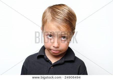 Boy Making a Sad Face