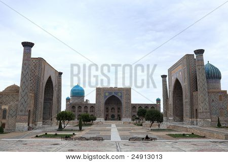Registan And Its Three Madrasahs In Samarkand