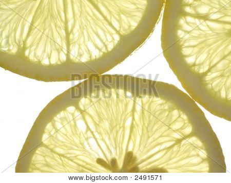 Slices Of Yellow Lemon