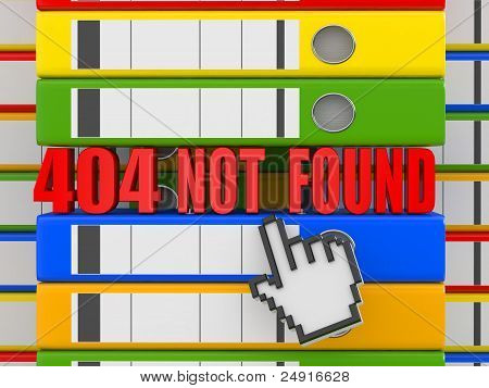 Error 404. File Not Found. Binders