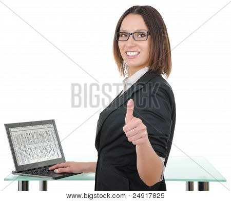 Secretary With A Laptop