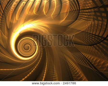 Fractal Abstract Background - Spin And Weave