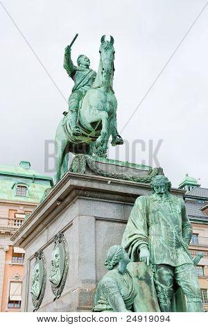 Statue Of Gustavus Adolphus At Gustav Adolfs Torg, Stockholm