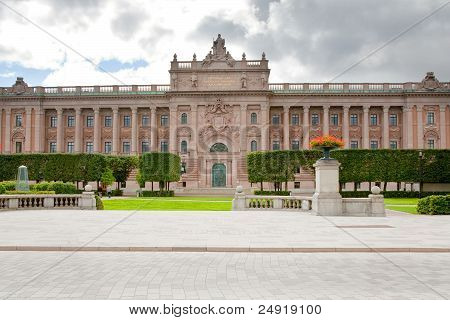 Riksdag Building - Swedish Parliament, Stockholm, Sweden