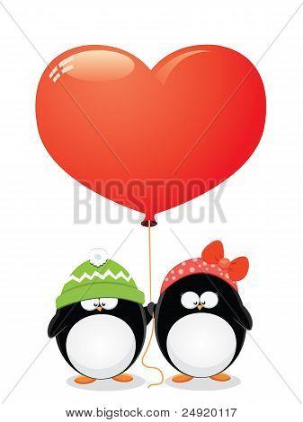 Penguin love Card