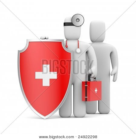 Medical Protection. Image contain clipping path