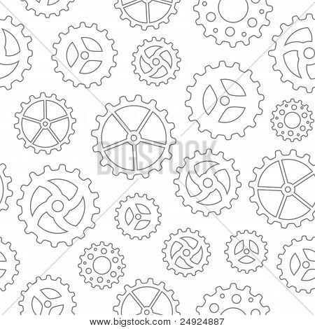 Gearwheels Seamless Background