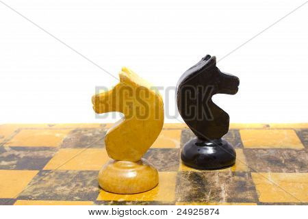 Chess Horses On Board