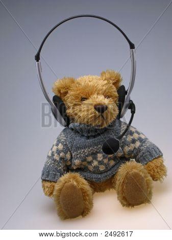 Toy  Bear With  Speakerphone