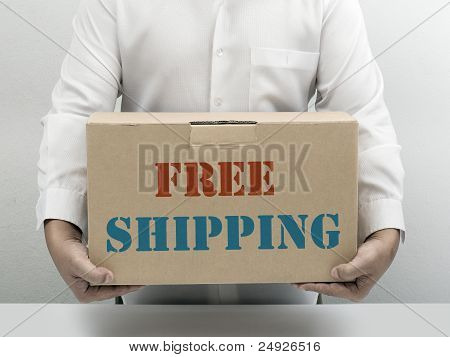 Free Shipping Brown Paper Box