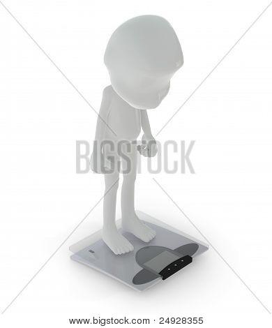 3D Character :  Diet Concept