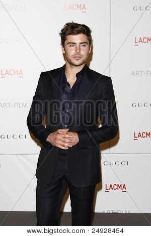 LOS ANGELES - NOV 5: Zac Efron at the LACMA Art + Film Gala on November 5, 2011 in Los Angeles, California