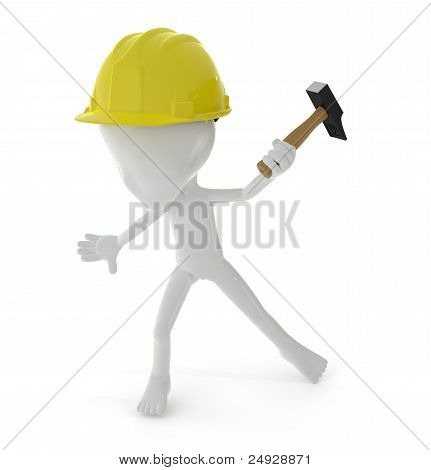 3D Character : Worker Concept