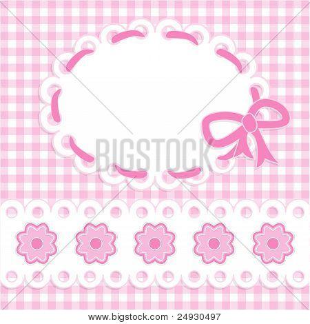 Cartão de bebê menina