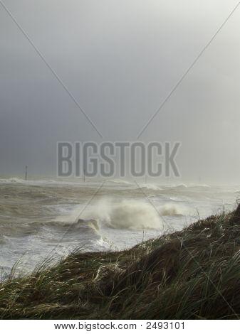 Storm Surge At Sea Palling