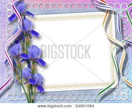 Elegant Framework For Invitation On The Abstract Background.
