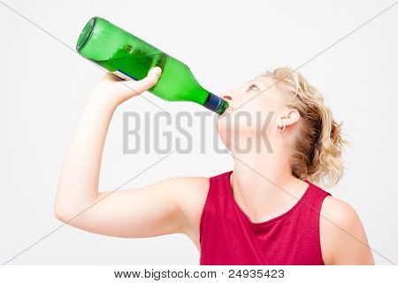 Woman Drinking Alcohol