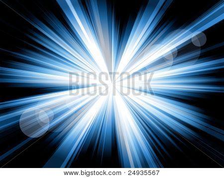Burst Of Blue Lines