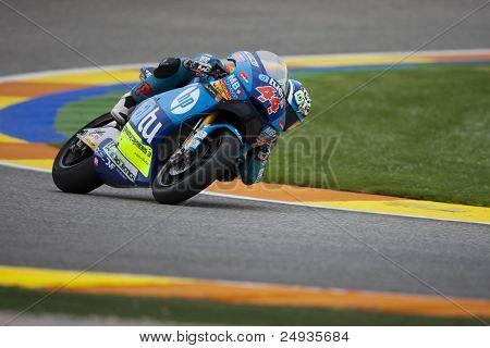 VALENCIA, SPAIN - NOVEMBER 5: Pol Espargaro in motogp Grand Prix of the Comunitat Valenciana, Ricardo Tormo Circuit of Cheste, Spain on november 5, 2011
