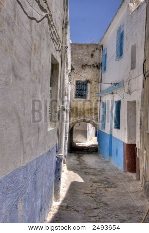 Walking Arround The Kasbah In Bizerte, Tunisia