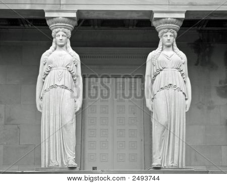 Twin Marble Statues