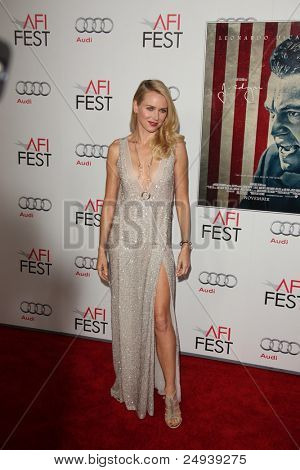 "LOS ANGELES - NOV 3:  Naomi Watts arrives at the AFI FEST 2011 Presented By Audi - ""J. Edgar"" Opening Night Gala at Grauman's Chinese Theater on November 3, 2011 in Los Angeles, CA"