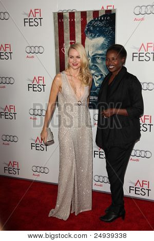 "LOS ANGELES - NOV 3:  Naomi Watts, Jacqueline Lyanga arrives at the AFI FEST 2011 Presented By Audi - ""J. Edgar"" Opening Night Gala at Grauman's Chinese Theater on November 3, 2011 in Los Angeles, CA"