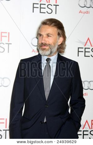 """LOS ANGELES - NOV 5:  Christoph Waltz arrives at the AFI FEST 2011 Gala Screening of """"Carnage"""" at Grauman's Chinese Theater on November 5, 2011 in Los Angeles, CA"""