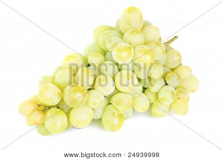 Bunch Of Fresh Grapes Isolated On White Background