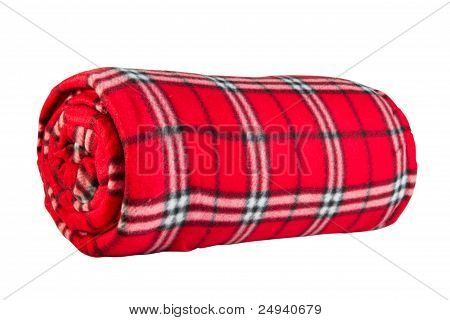 Red Fleece Blanket In  Cage